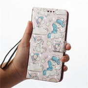 Wekays For Oneplus 5T Cute Cartoon 3D Unicorn Skull Owl Leather Funda Case SFor Oneplus 5T Oneplus A5010 One Plus 5T Cover Cases
