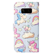 Wekays For Samsung S6 S7 Edge S8 Plus Cartoon Unicorn Leather Flip Fundas Case SFor Samsung Galaxy S6 S7 Edge S8 Plus Cover Case