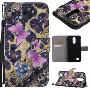 Wekays PU Leather Wallet Flip Case For LG K10 2017 Cartoon Flower Butterfly Silicone Cover For LG K10 2017 Case Phone Coque Capa