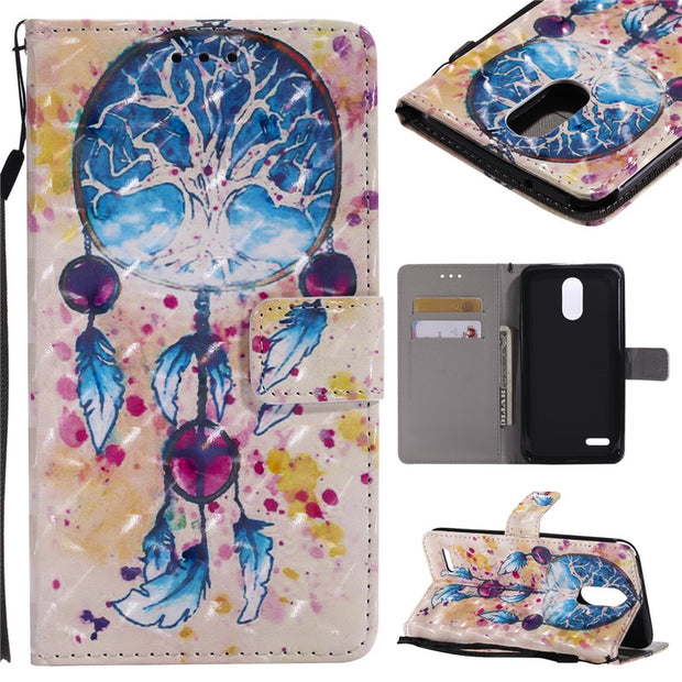 Wekays PU Leather Wallet Flip Case For LG Stylus 3 Stylo3 Plus Cartoon Cover For LG Stylo 3 Stylus 3 Plus Case Phone Coque Capa