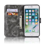 With Lanyard Retro PU Leather Case For IPhone 7 8 Plus Cover For IPhone8 8Plus 7p Kickstand Card Pocket Flip Case TPU Back Cover