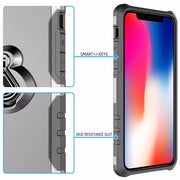 With Ring Quality Cell Phone Case For IPhone XS X XSMAX 8 8Plus Aicoo Ring Magnetic Vehicle-mounted Holder Kickstand Phone Cover