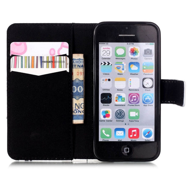 XIN-MUM Colorful Leather Phone Bags Flower For Samsung S5 S7 S6 Edge Plus A510 A310 J510 Card Slot Beautiful Stand Fundas