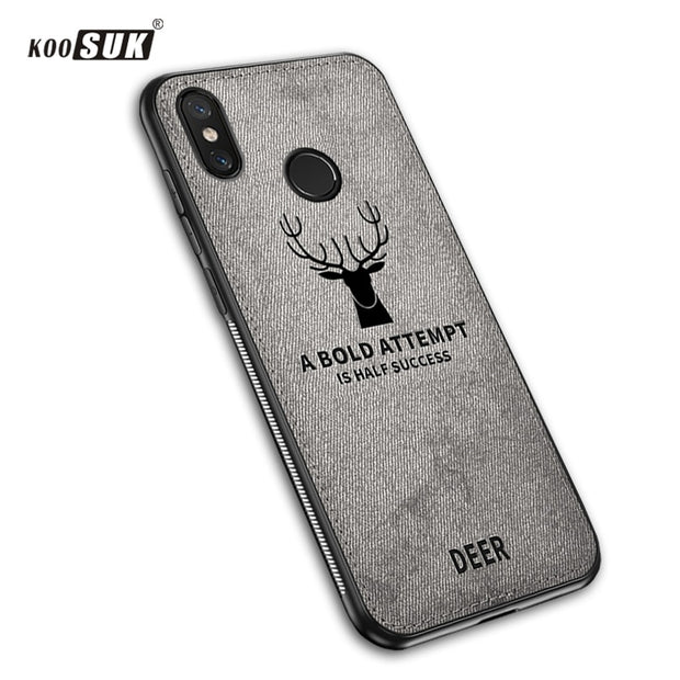 Xiaomi Redmi Note 6 Pro Case Cloth Distressed Hard Phone Back Cover Soft Frame Fabric Fundas SFor Redmi Note 6 Pro Note6 Cases