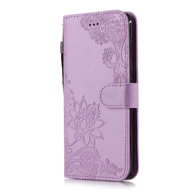 Y5(2018) Floral Case On For Huawei Y5 Y6 Y9 2018 Leather Cover For Fundas Huawei Y5 Prime 2018 Wallet Flip Magnetic Phone Cases