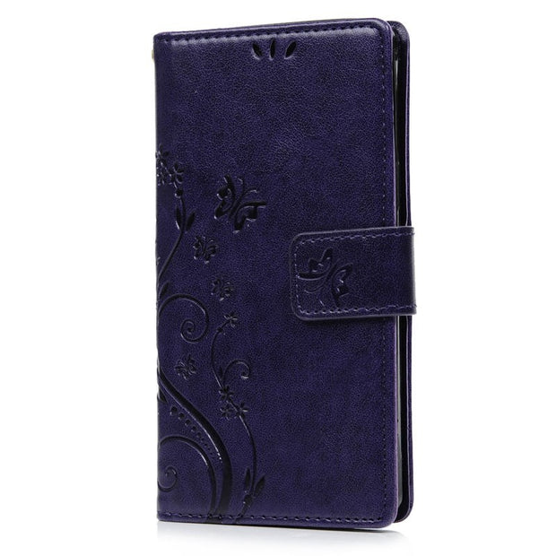 YOKIRIN Case For Samsung Galaxy A5 2015 A5000 Emboss Flower Stand Flip Wallet PU Leather TPU Phone Cover For Galaxy A5000
