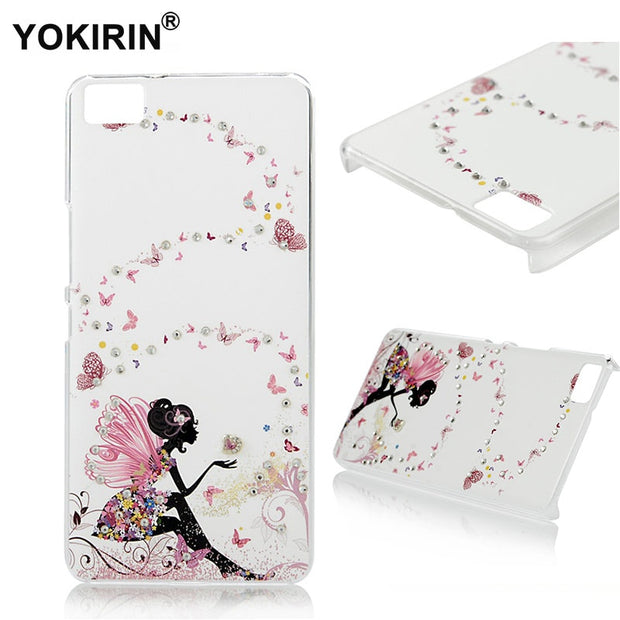 YOKIRIN Rhinestone Case For BQ Aquaris M5 , 3D Luxury Glitter Crystal Diamond Ultra Slim PC Back Cover For Aquaris M5 (5.0 Inch)