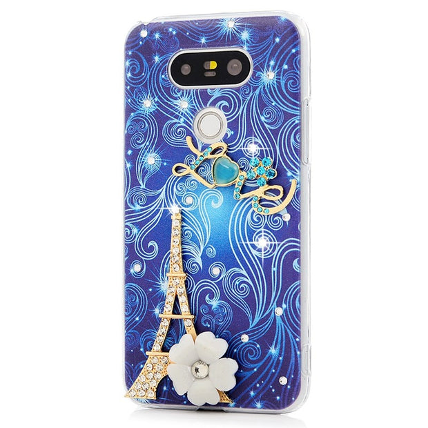 YOKIRIN Rhinestone Case For LG G5 Luxury Glitter Crystal Diamond Ultra Slim PC Protective Shell Back Cover For LG G5 H868
