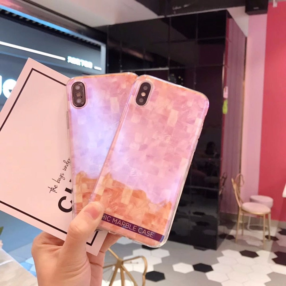 cdcc7dcdd1b607 YUSEE Fashion Blue Light Soft Phone Case Stylish Marble Back Cover For IPhone  X 6 6s 7 8 Plus Xiaomi Huawei Samsung Phone Case