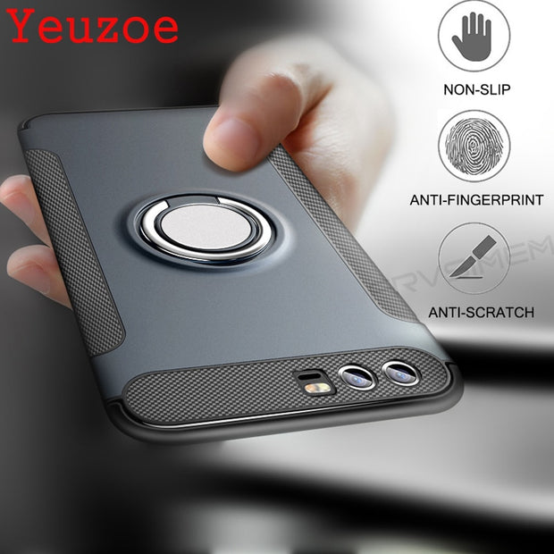 Yeuzoe For Huawei Nova 2s Case Luxury Shockproof Metal Ring Holder Combo Silicone Case For Huawei Nova2S Phone Cover Capa