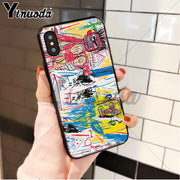 Yinuoda Abstract Graffiti Customer High Quality Phone Case For Apple IPhone 8 7 6 6S Plus X XS MAX 5 5S SE XR Cellphones