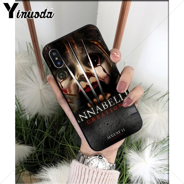 Yinuoda Annabelle Creation Horror Movie Popular Design Case Cover Shell For IPhone 8 7 6 6S Plus X XS MAX 5 5S SE XR Cellphones
