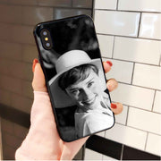 Yinuoda Audrey Hepburn Black Silicone Soft TPU Phone Case Cover For Apple IPhone 8 7 6 6S Plus X XS MAX 5 5S SE XR Cellphones
