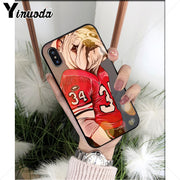 Yinuoda Cartoon BullDog TPU Soft Silicone Phone Case For Apple IPhone 8 7 6 6S Plus X XS MAX 5 5S SE XR Cellphones