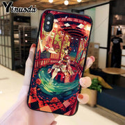 Yinuoda Cute Cartoon Anime Big Eyes Kimono Girl Coque Popular Cell Phone Case Cover For IPhone 8 7 6 6S Plus 5 5S SE XR X XS MAX