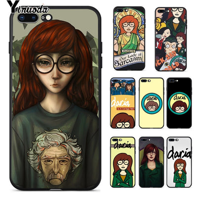 Yinuoda DARIA MORGENDORFFER TPU Soft Phone Accessories Cell Phone Case For IPhone 8 7 6 6S Plus 5 5S SE XR X XS MAX Coque Shell