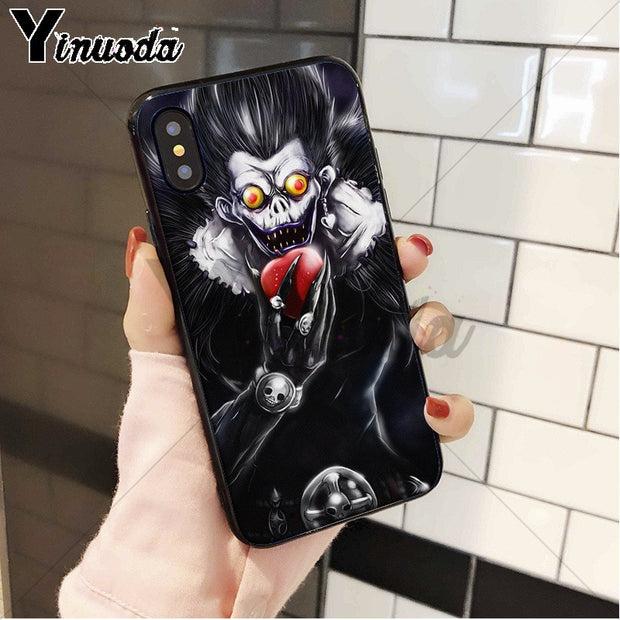 Yinuoda Death Note Ryuk Silicone Soft TPU Phone Case For Apple IPhone 8 7 6 6S Plus X XS MAX 5 5S SE XR Cellphones