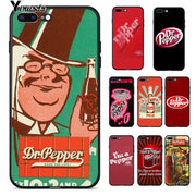 Yinuoda Dr Pepper High Quality Silicone Soft TPU Phone Case Cover For Apple IPhone 8 7 6 6S Plus X XS MAX 5 5S SE XR Cover