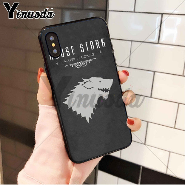 Yinuoda House Mormont Stark Colorful Cute Phone Accessories Case For IPhone 8 7 6 6S Plus 5 5S SE XR X XS MAX Coque Shell
