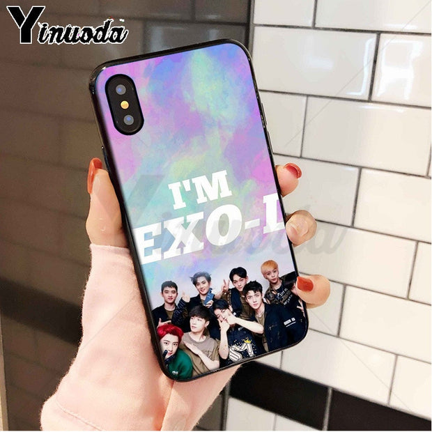 Yinuoda Korea Kpop EXO Coque Popular Cell Phone Case Cover For Apple IPhone 8 7 6 6S Plus X XS MAX 5 5S SE XR Cellphones