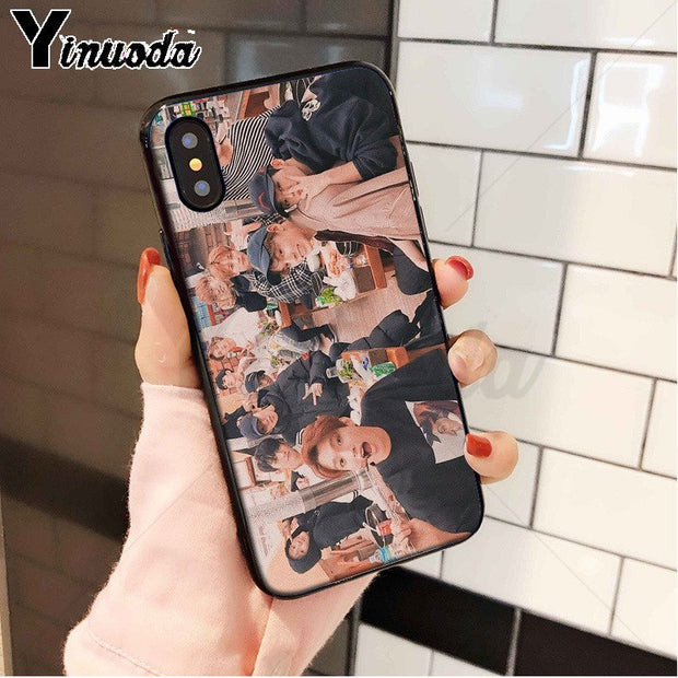 Yinuoda Korea Kpop Seventeen Black Soft Shell Phone Cover For Apple IPhone 8 7 6 6S Plus X XS MAX 5 5S SE XR Cellphones