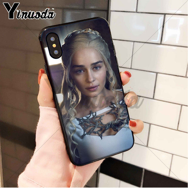 Yinuoda Sexy Emilia Clarke Cover Silicone Soft TPU Phone Case For Apple IPhone 8 7 6 6S Plus X XS MAX 5 5S SE XR Cover