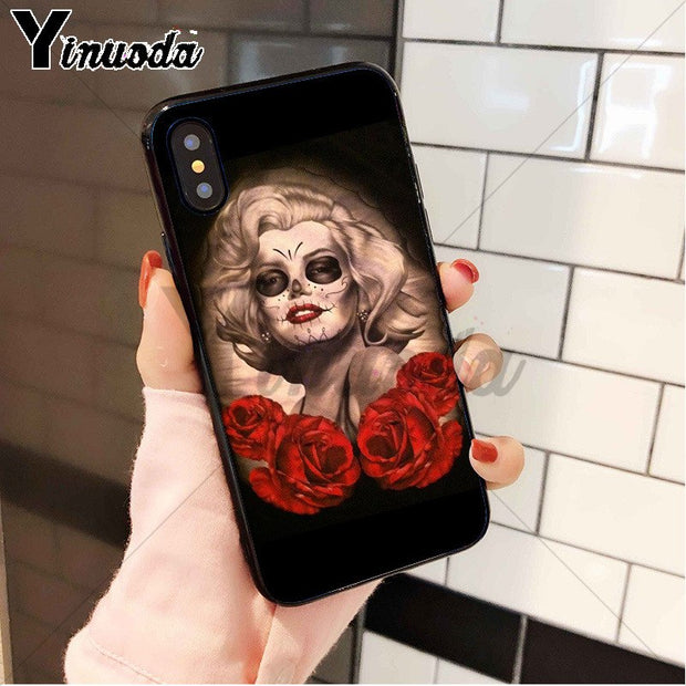 Yinuoda Sexy Marilyn Monroe High Quality Silicone Soft TPU Phone Case For Apple IPhone 8 7 6 6S Plus X XS MAX 5 5S SE XR Cover