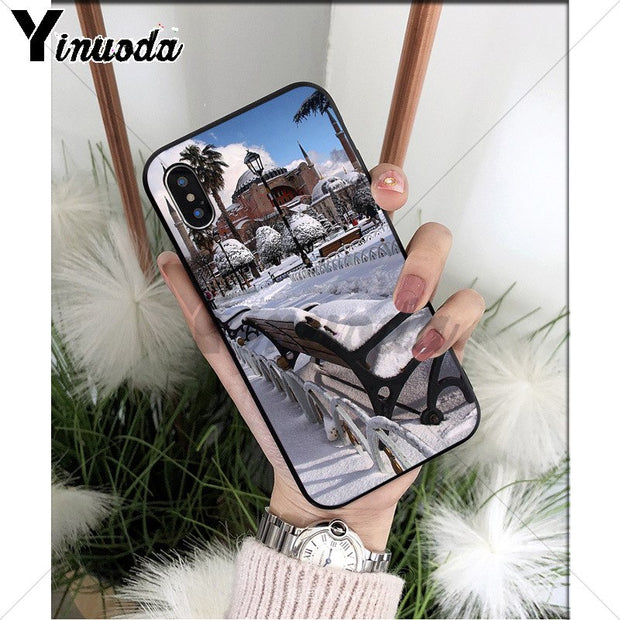 Yinuoda Turkey Istanbul TPU Soft Phone Accessories Cell Phone Case For IPhone 8 7 6 6S Plus 5 5S SE XR X XS MAX Coque Shell