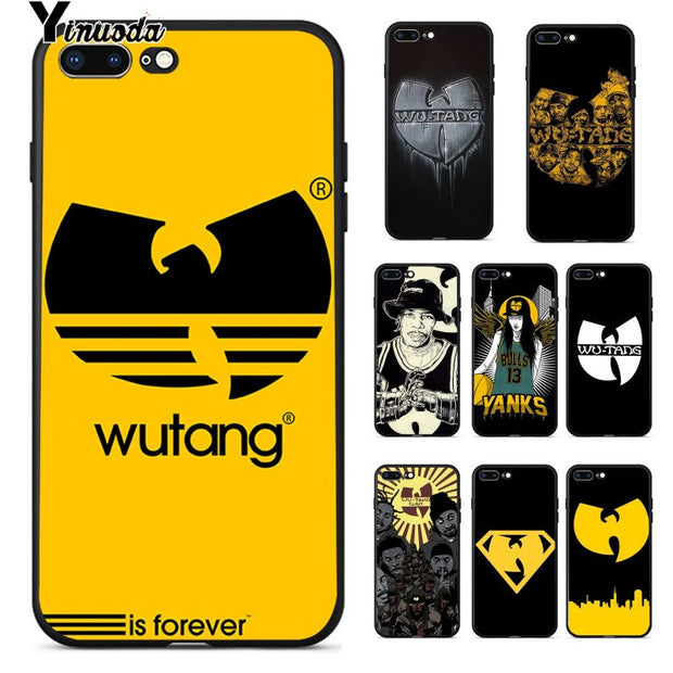 Yinuoda Wu Tang Clan Soft Silicone TPU Phone Cover For IPhone 8 7 6 6S Plus 5 5S SE XR X XS MAX Coque Shell