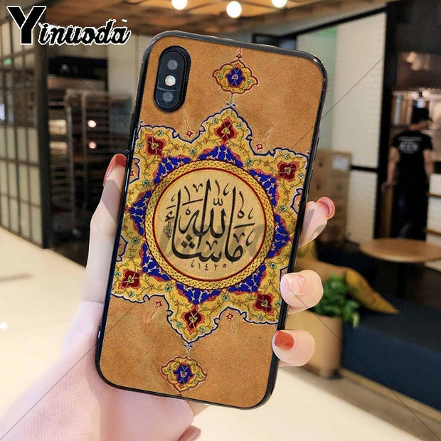 Yinuoda Arabic Quran Islamic Quotes Muslim High Quality Soft TPU Phone Case For Apple IPhone 8 7 6 6S Plus X XS MAX 5 5S SE XR