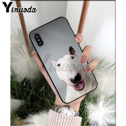 Yinuoda Bull Terrier Dog Coque Popular Cell Phone Case Cover For Apple IPhone 8 7 6 6S Plus X XS MAX 5 5S SE XR Cellphones