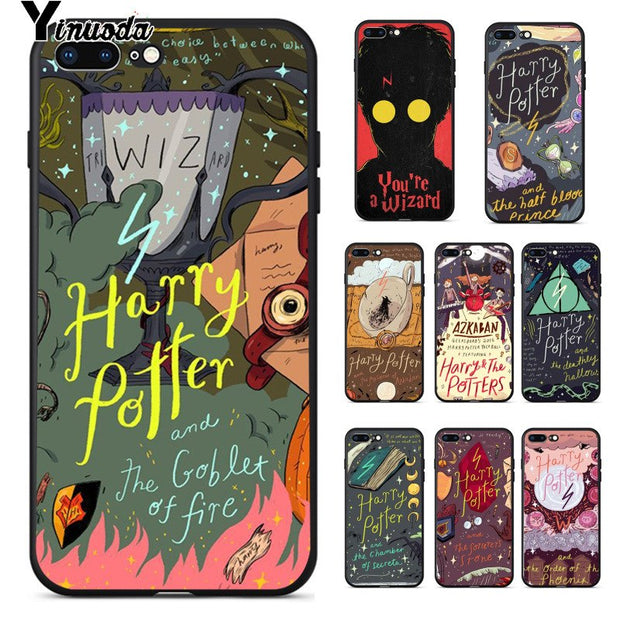 Yinuoda Harry Potter Poster TPU Soft Silicone Transparent Phone Case For IPhone 8 7 6 6S Plus 5 5S SE XR X XS MAX Coque Shell