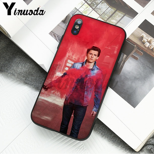 Yinuoda Tom Holland Spider Man DIY Luxury High-end Protector Phone Case For Apple IPhone 8 7 6 6S Plus X XS MAX 5 5S SE XR Cover