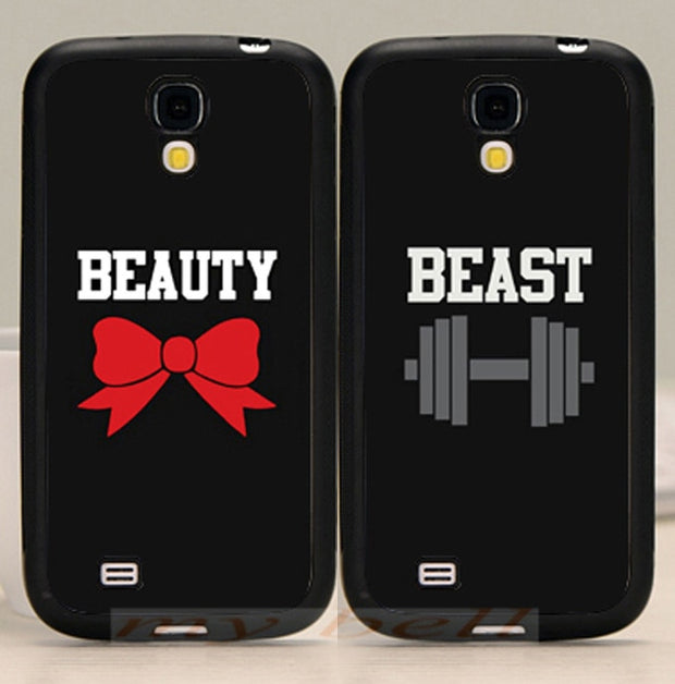 Beast Beauty Love Pair Best Friends BFF Soft Phone Case For Samsung S5 S6 S6edge Plus S7 Edge S8 Plus S9 Plus Note5 Note8 Note9