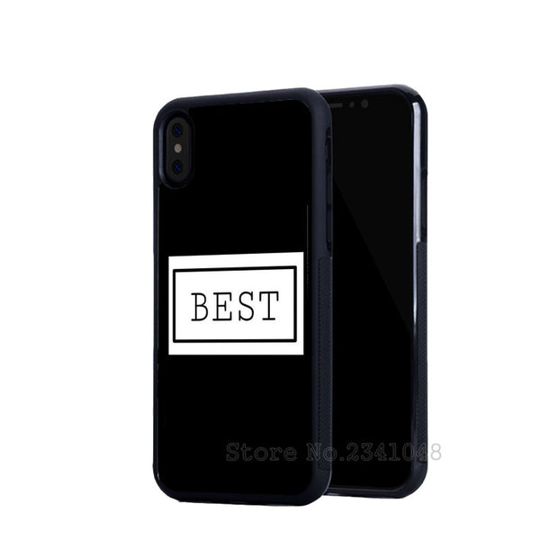 Black White BFF Best Friends Foreve Pair Silicone Soft Phone Cases For IPhone 5s Se 6 6s Plus 7 7plus 8 8plus X XR XS MAX