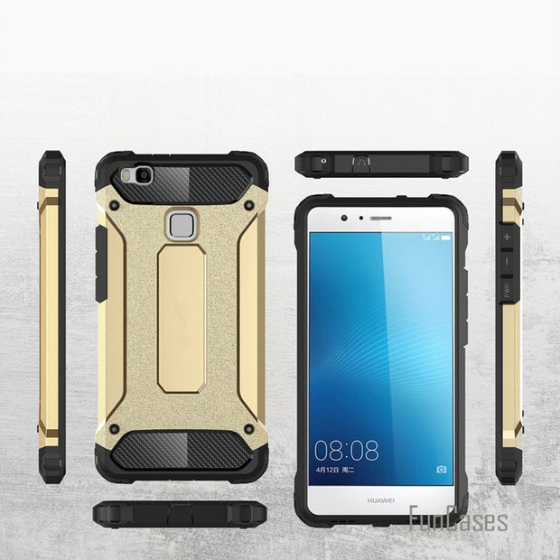 Case For Huawei P9 P8 Mate 8 Anti Knock Armor Case Plastic TPU Hybrid Case For Huawei Ascend P8 Lite P9 Lite Silicone Case Coque