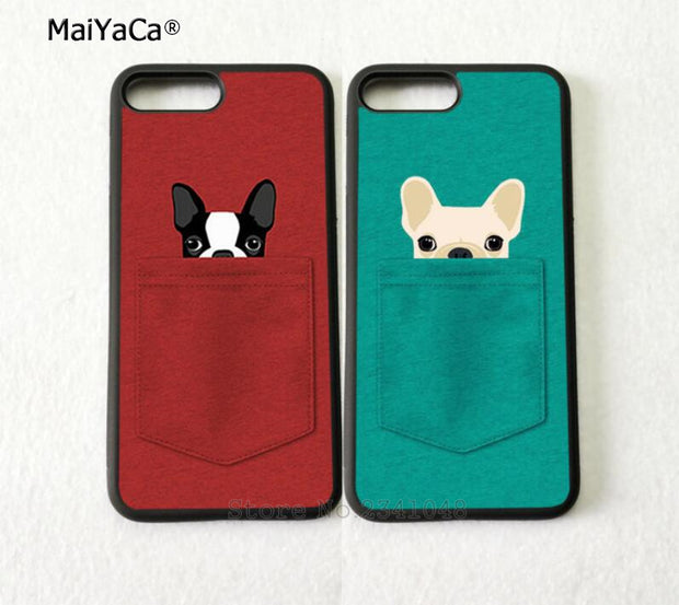 Cute Dogs BFF Best Friends Foreve Pair Silicone Softe Phone Cases For IPhone 5s Se 6 6s Plus 7 7plus 8 8plus X XR XS MAX Cover