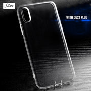 FZoe Ultra Thin Transparent Case For IPhone X 8 7 Plus 6 6S Plus Cases Soft TPU Cover For IPhone 6 6S 7 8 Plus Phone Cases Capa