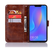 For Huawei P Smart+ Case With Lanyard Card PU Leather Cases Phone Bags For HUAWEI Nova 3i Kickstand Flip Cases TPU Back Cover