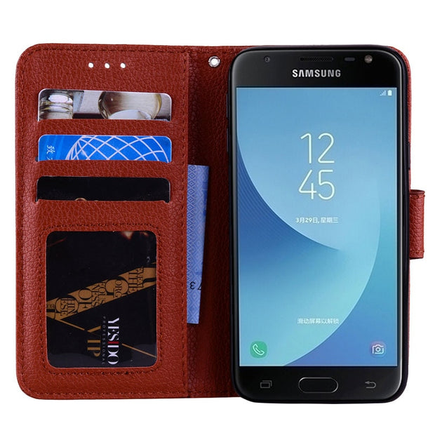 For Samsung Galaxy J 530 Case 2017 J57 J530 J530F SM-J530F J530FM SM-J530FM J530FM/DS Phone Bag Leather Cover Point Drill Flip
