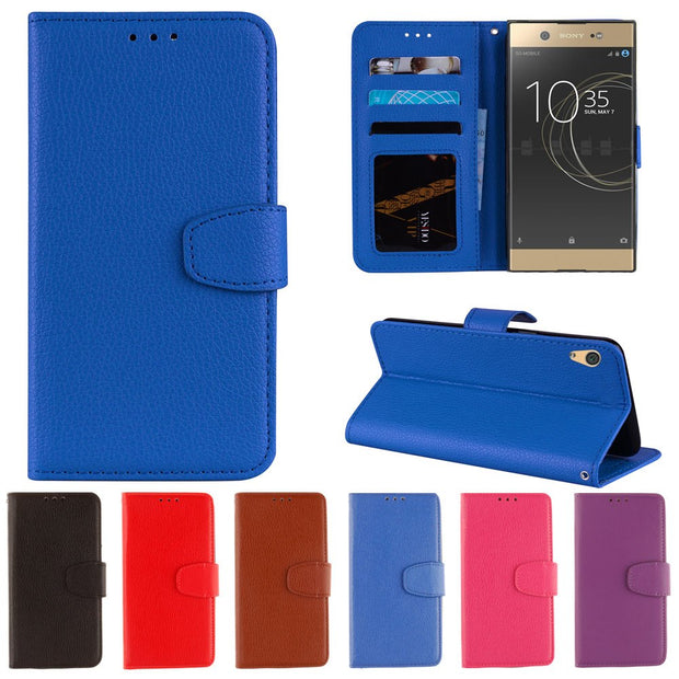 For Sony Xperia XA1 Ultra G3221 Case Dual G3223 G3212 G3121 Phone Fitted For Sony XA1Ultra Frame Bumper Solid Leather PU Cover