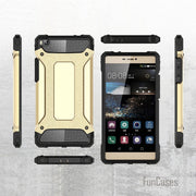 For Huawei P8 Anti Knock Armor Case Plastic + TPU Hybrid Case For Huawei Ascend P8 Slim Hard Tough Phone Cvoer Bags Fundas Capa