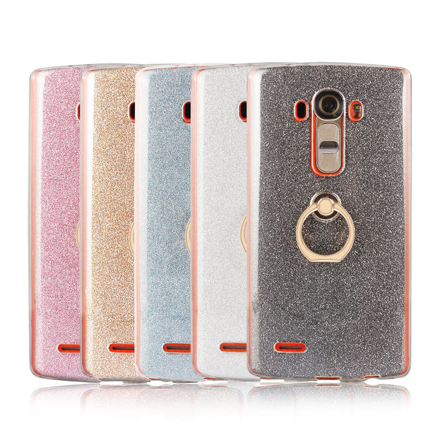 G4 Case For LG G4 Flash Powder For LG G4 H815 H815TR H815T H815P H812 H811  LS991 VS986 US991 Tpu Soft Shell Cover Finger Buckle