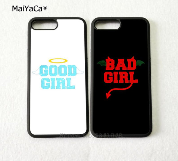 Good Bad Girl Two Girls BFF Best Friends Silicone Softe Phone Cases For IPhone 5s Se 6 6s Plus 7 7plus 8 8plus X XR XS MAX Case