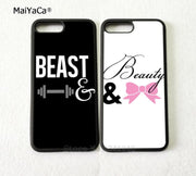 Guy Girl Beast And Beauty Best Friends Silicone Soft Edge Phone Cases For IPhone 5s Se 6 6s Plus 7 7plus 8 8plus X XR XS MAX
