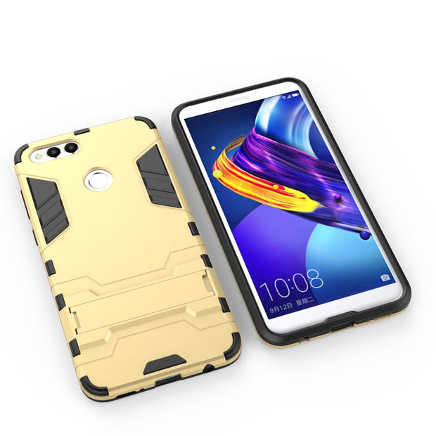 Heavy ANTI-shock Drop-protective Kickstand Hybrid Armor Protective Case Cover For Huawei Honor 7X