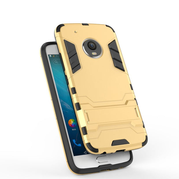 Heavy Shock-resistant ANTI-shock Kickstand Hybrid Armor Protective Case Cover For Moto X 2017 / Moto G5 Plus