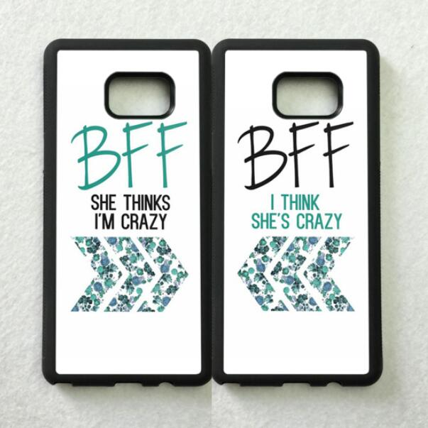 I'm Crazy Love Pair Best Friends BFF TPU Cases For Samsung S5 S6 S6edge Plus S7 Edge S8 S8plus S9 S9plus Note5 Note8 Note9 Cover