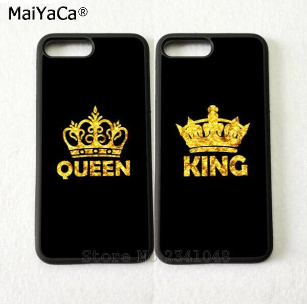 King & Queen BFF Best Friends Love Pair Soft Phone Cases For IPhone 5s Se 6 6s Plus 7 7plus 8 8plus X XR XS MAX TPU Cover Case