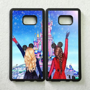 Nice Two Girls Love Pair Best Friends BFF TPU Cases For Samsung S5 S6 S6edge Plus S7 Edge S8 S8plus S9 S9plus Note5 Note8 Note9